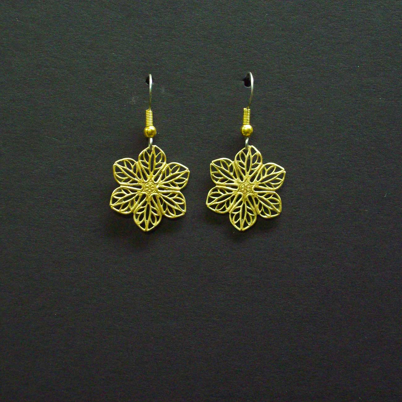 Small Filigree Star Earrings
