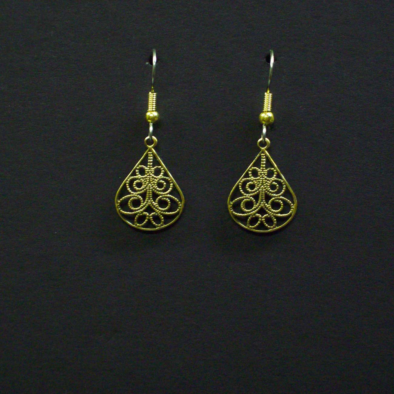 Small Filigree Teardrop Earrings