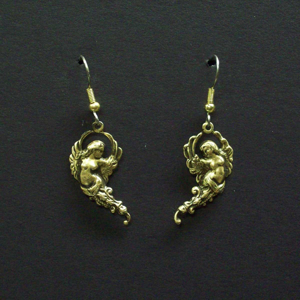 Floating Angel Dangle Earrings