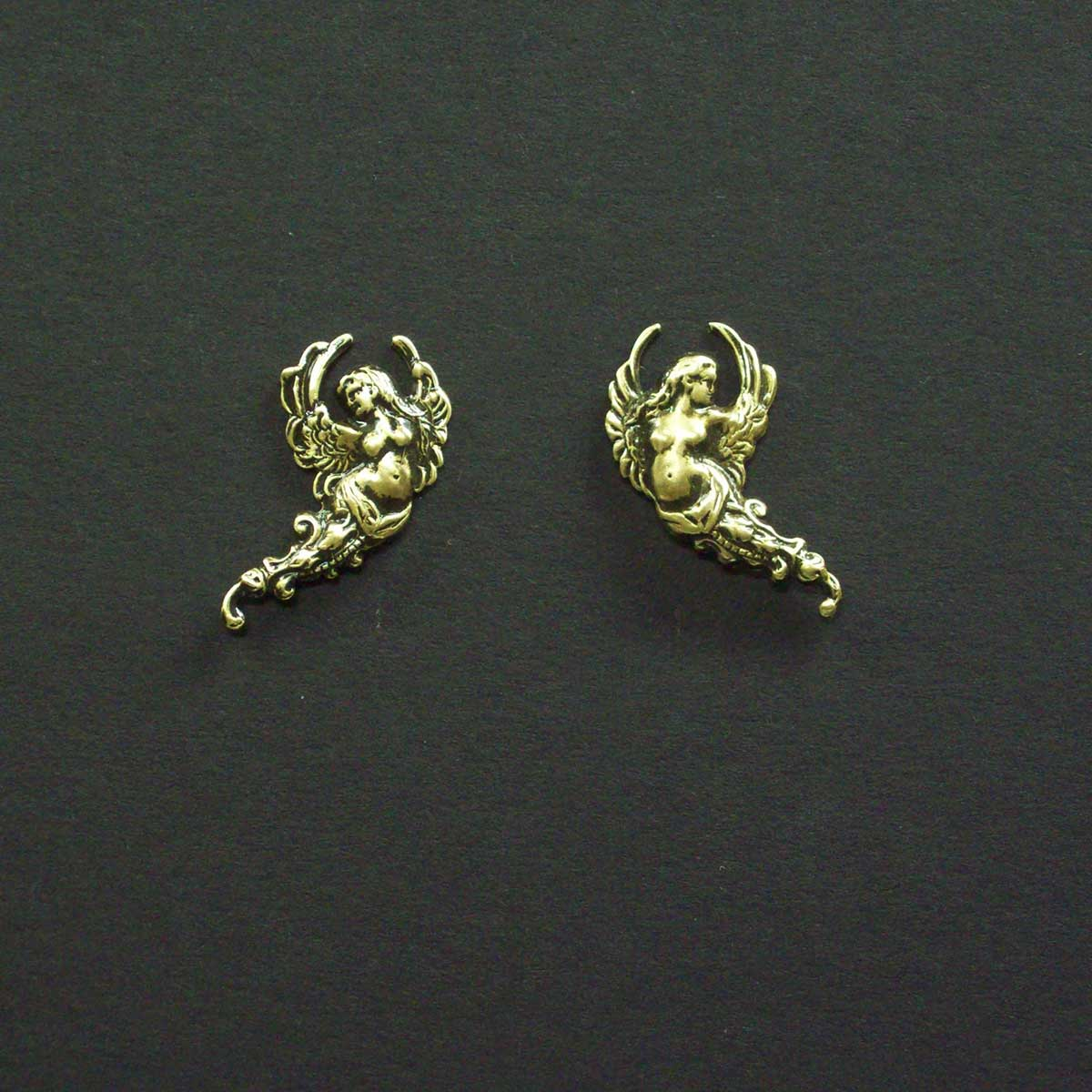 Florating Angel Post Earrings
