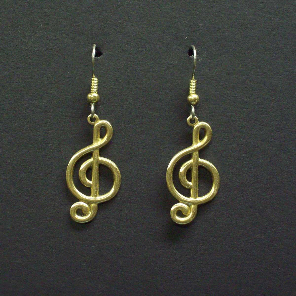 Treble Clef 2 Dangle Earrings.