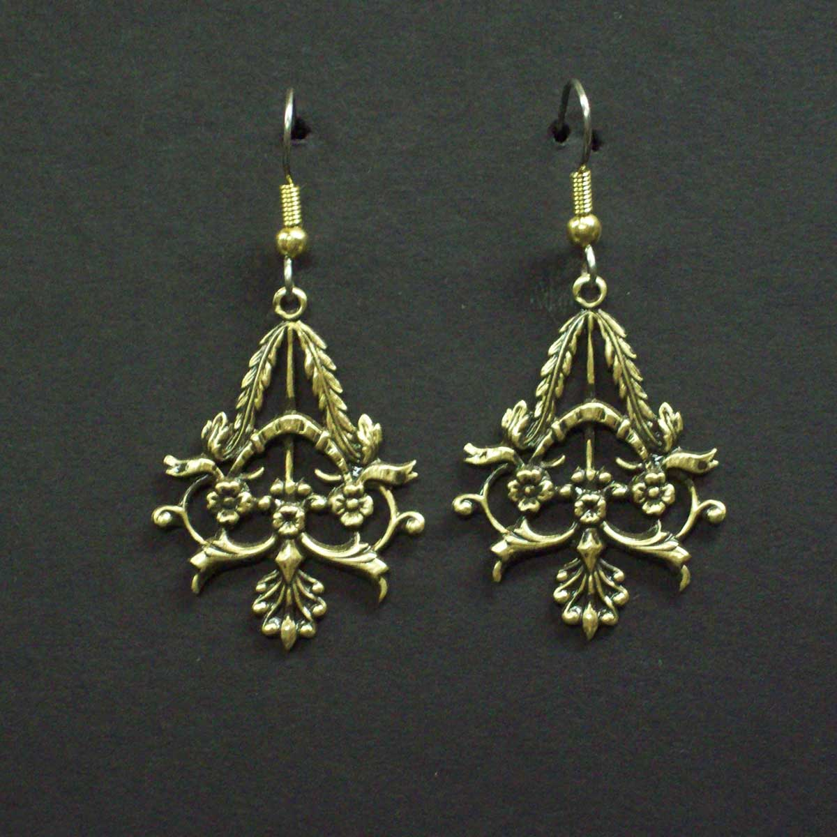 Victorian Floral Dangle Earrings