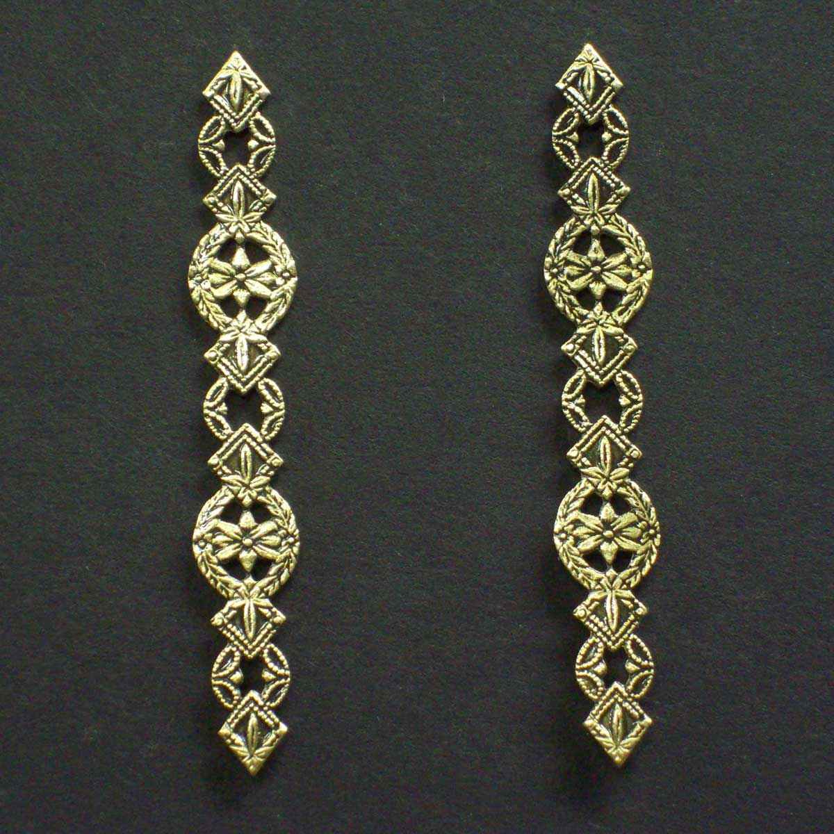 Floral Victorian Post Earrings