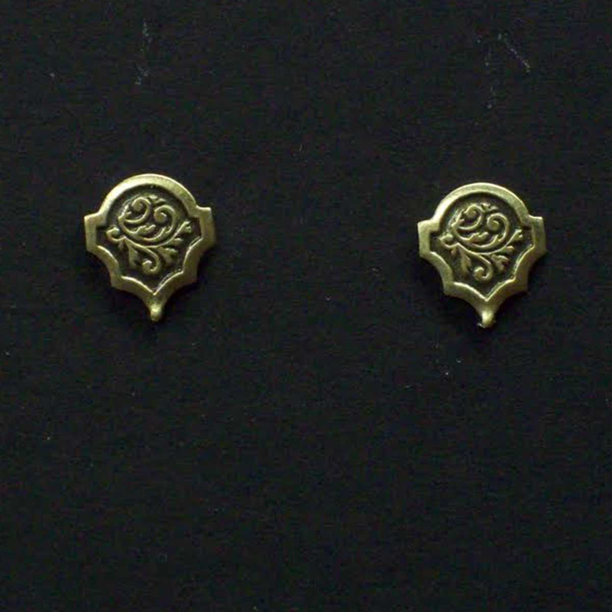 Small Victorian Floral Post Earrings