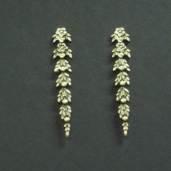 Domed Victorian Drop Earrings