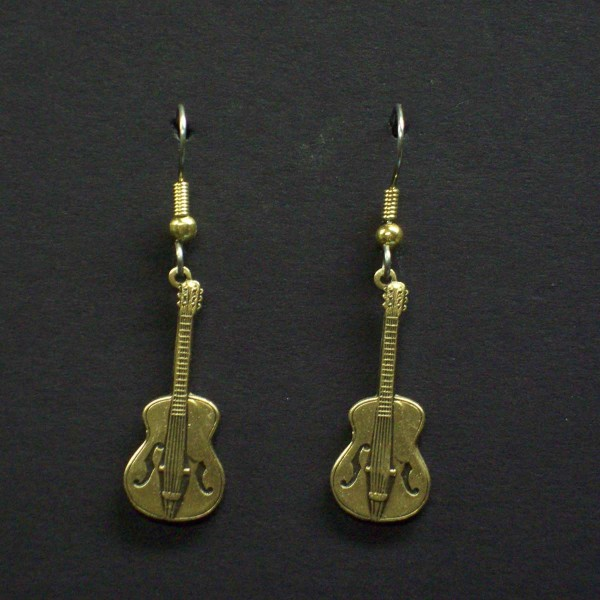 Small Dangle Guitar Earrings