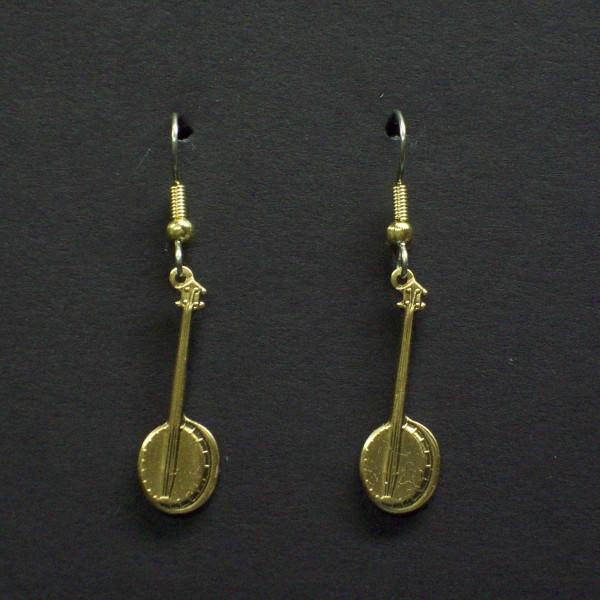 Small Dangle Banjo Earrings