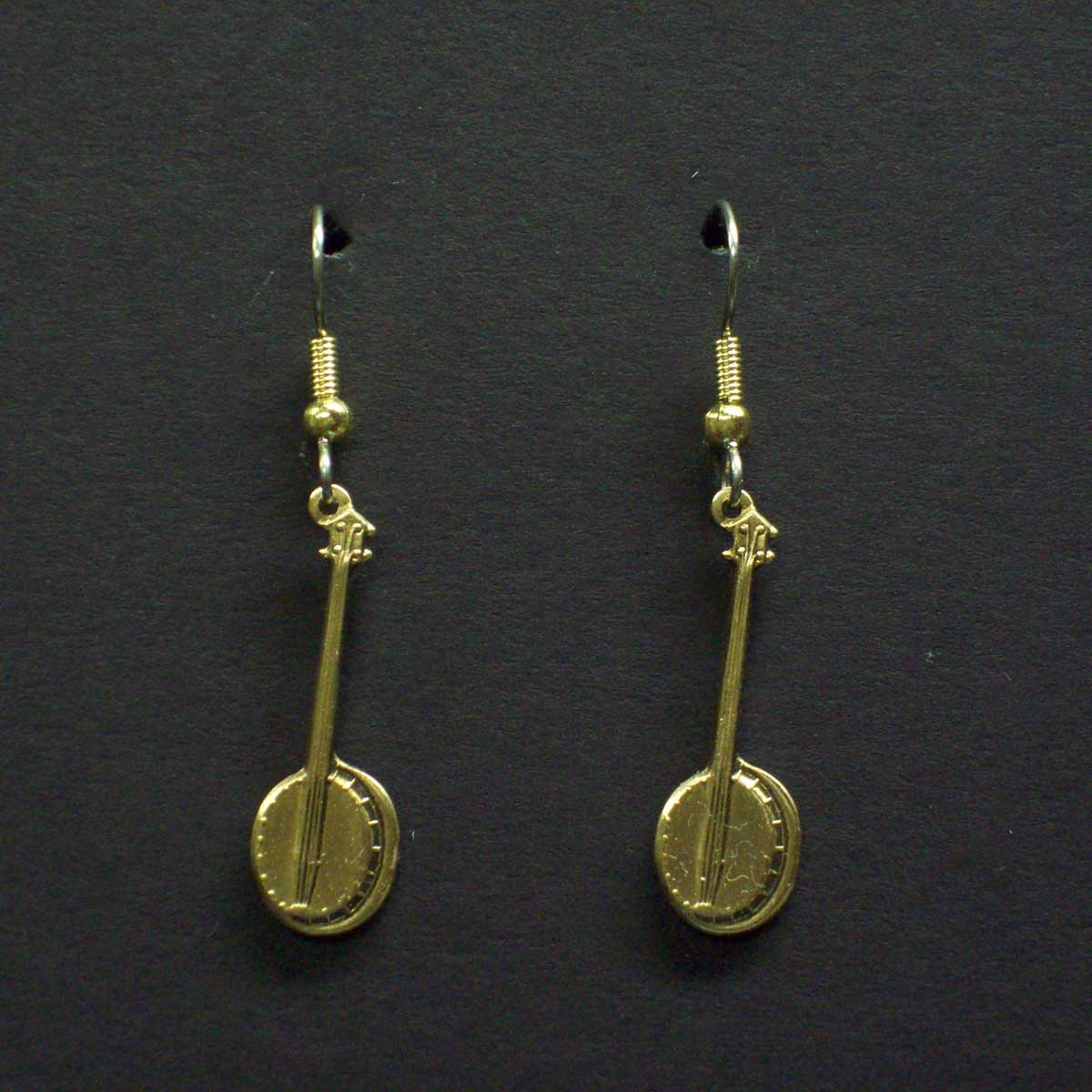 Small Dangle Banjo Earrings
