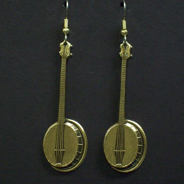 Large Dangle Banjo Earrings