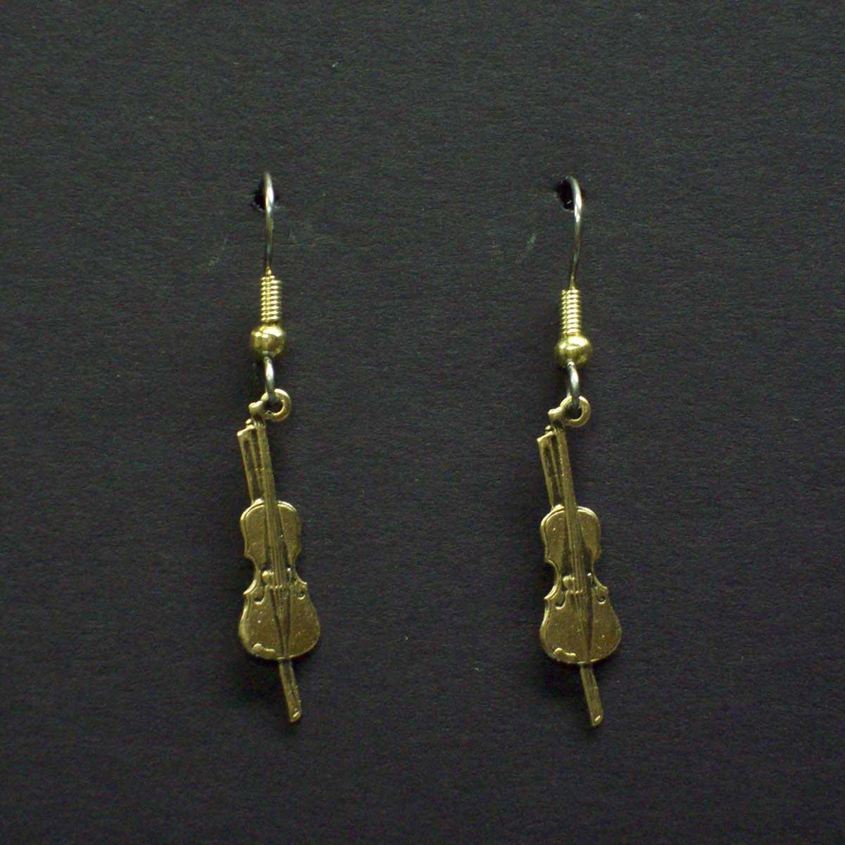 Small Dangle Violin Earrings