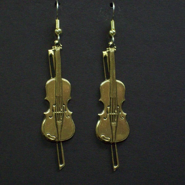 Large Violin Earrings