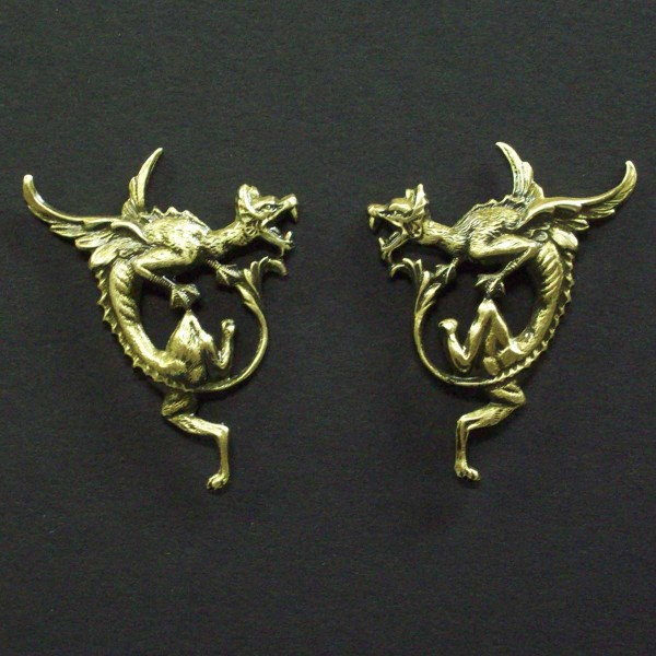 Dragon Post Earrings