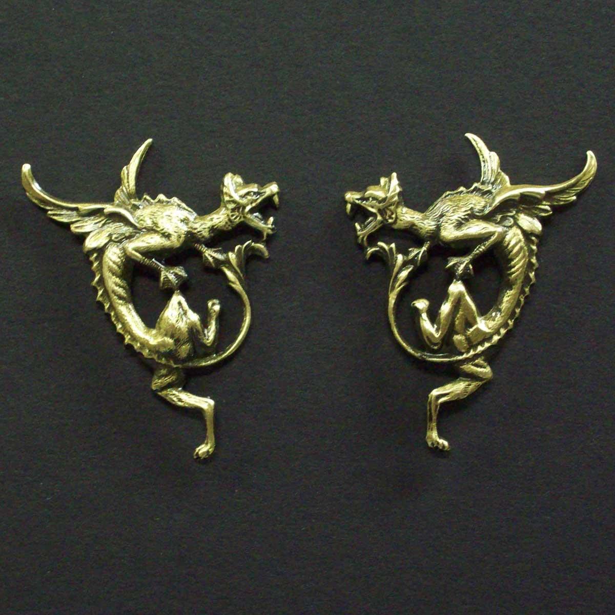 Dragon Post Earrings