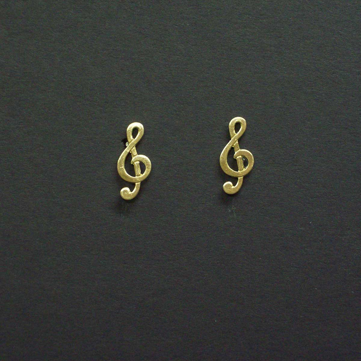 Treble Clef Post Earrings