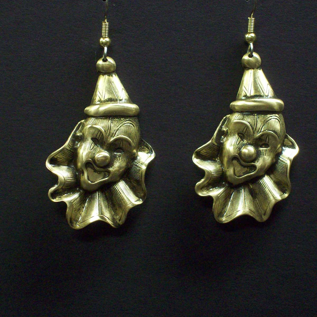 Large Clown Head Earrings