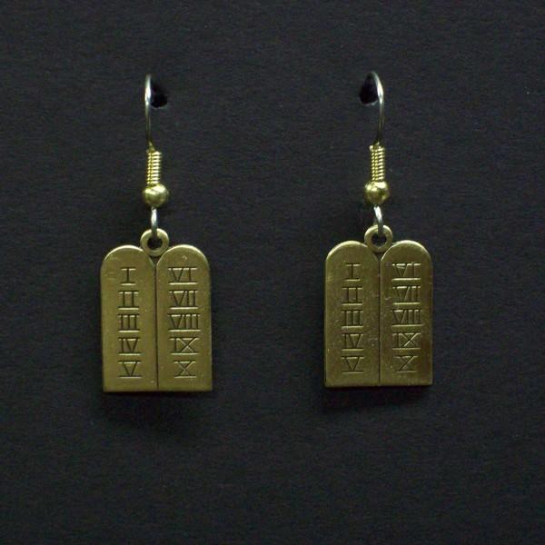Ten Commandments Earrings