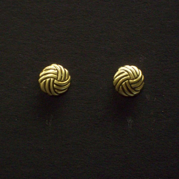 Round Swirl Post Earrings