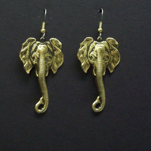 Elephant Long Trunk Dangle Earrings