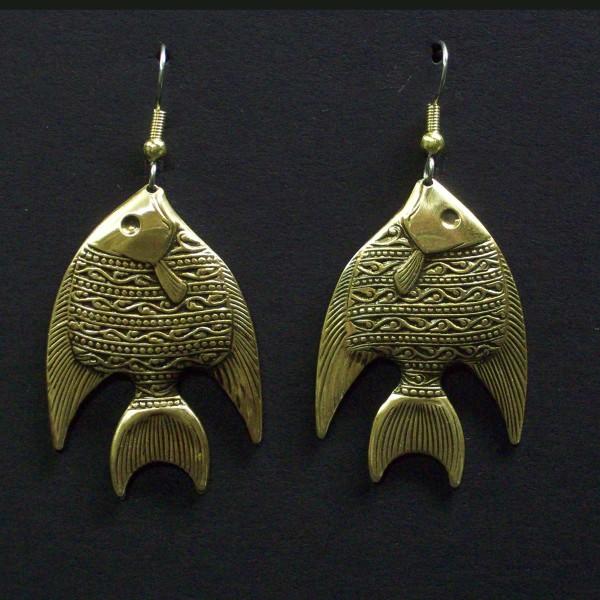 Large Parrot Dangle Earrings