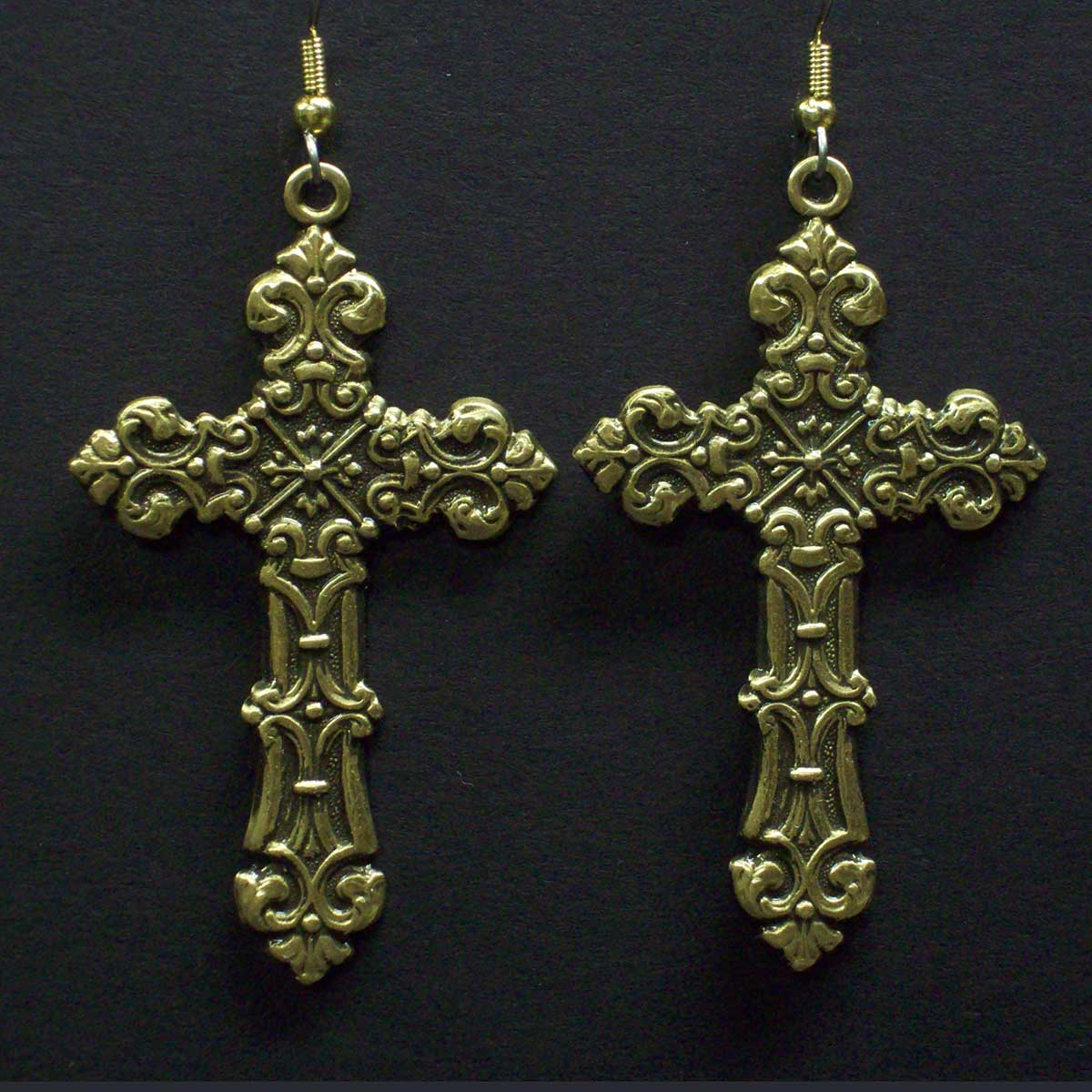 Large Celtic Style Cross Earrings