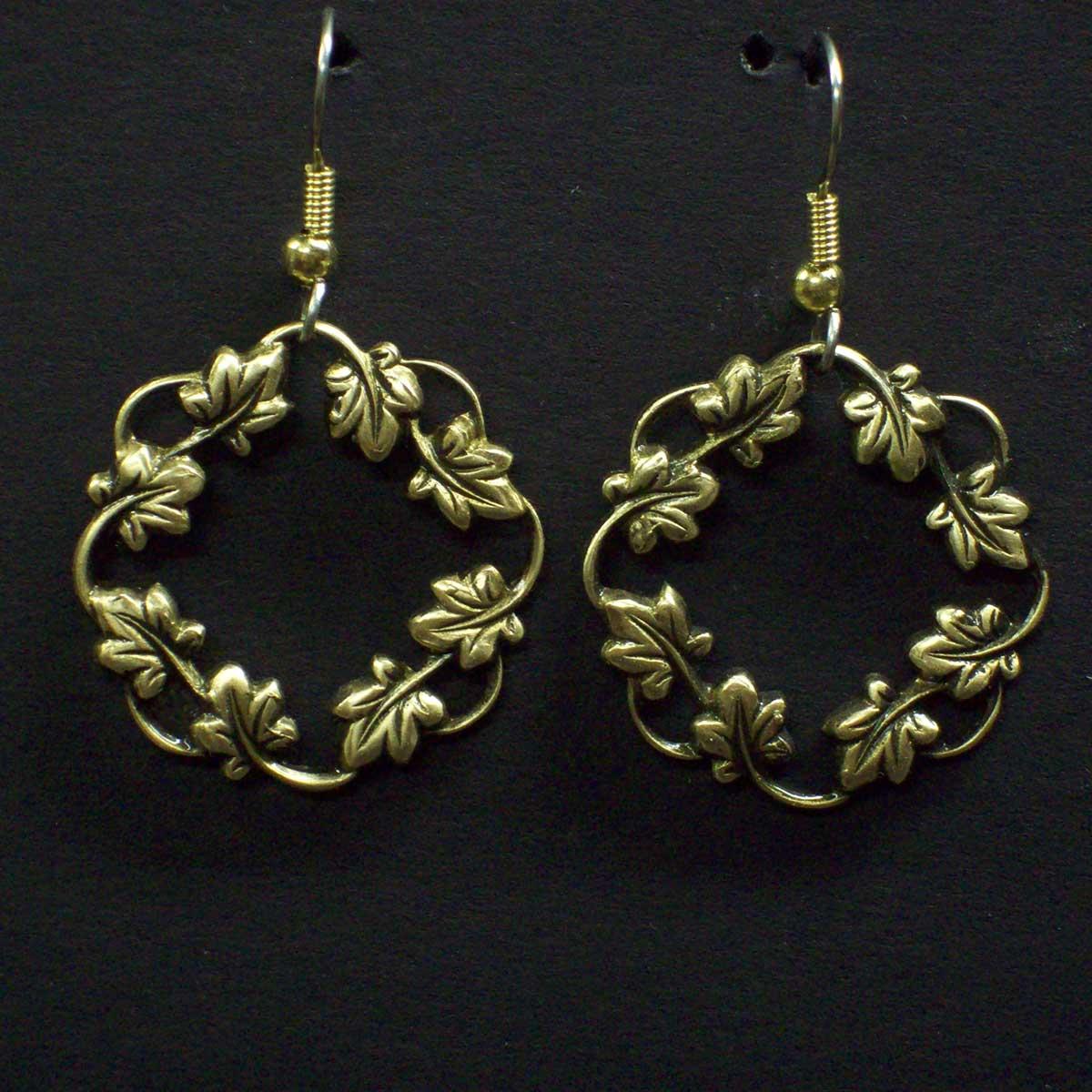 Floral Hoop Dangle Earrings