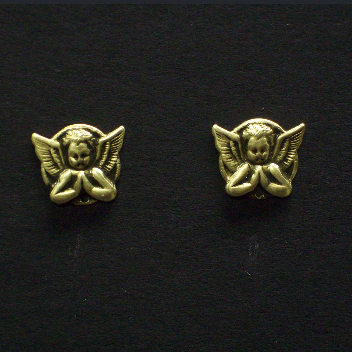 Praying Cherub Post Earrings