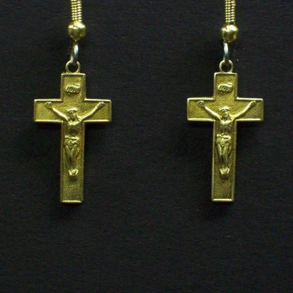 Crucifix Dangle Earrings
