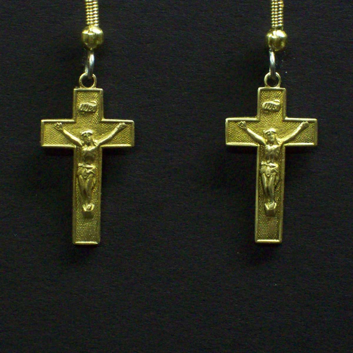 Crucifix Dangle Earrings
