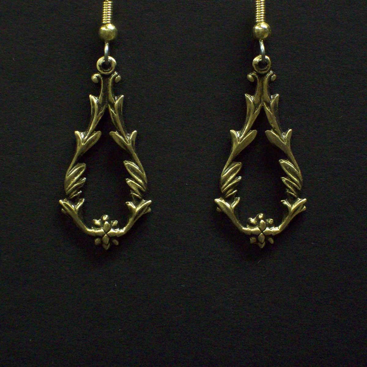 Fancy Victorian Teardrop Earrings