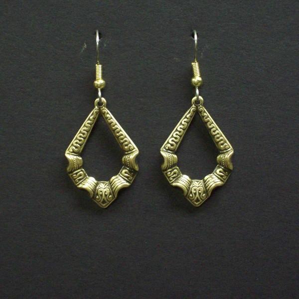 Embossed Victorian Loop Earrings