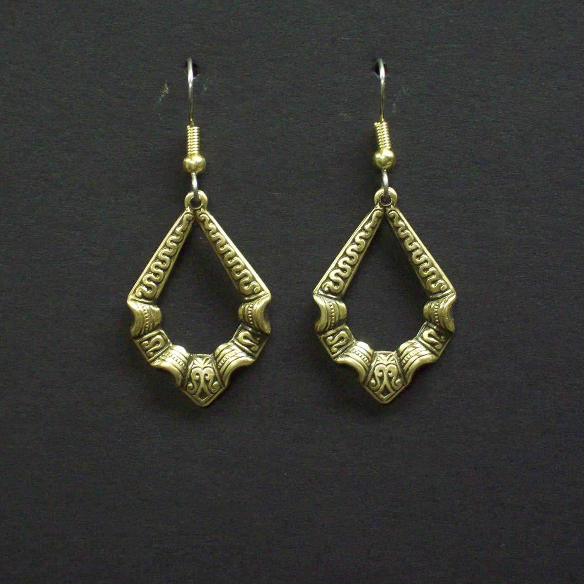 Embossed Victorian Loop Earrings