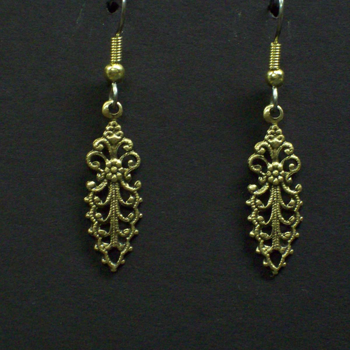Small Filigree Victorian Earrings