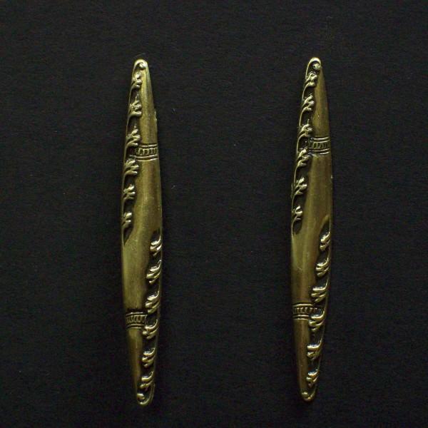 Embossed Spindle Post Earrings