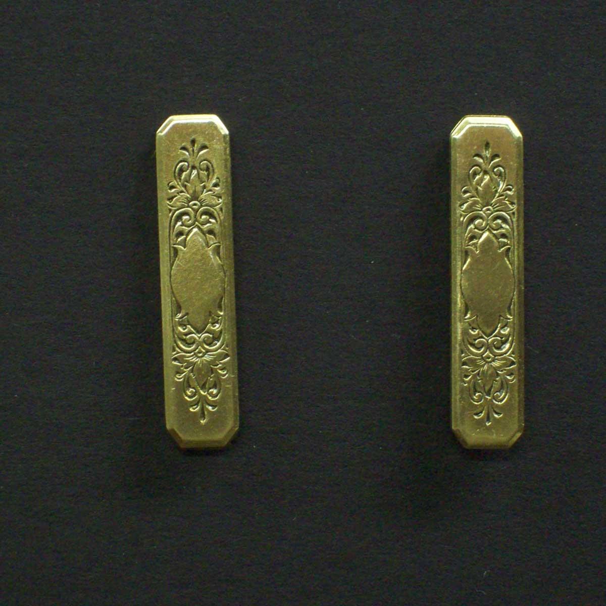 Vintage Engraved Post Earrings
