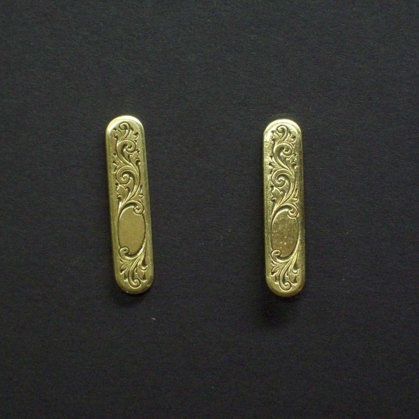Engraved Oval Victorian Post Earrings
