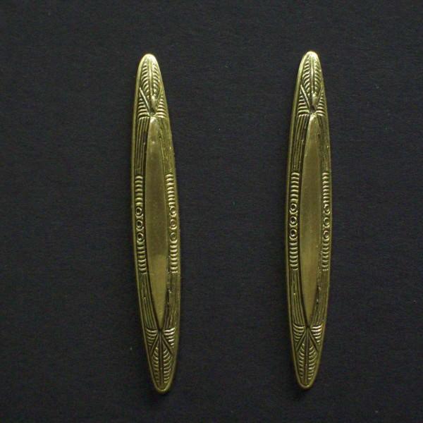Vintage Style Spindle Post Earrings