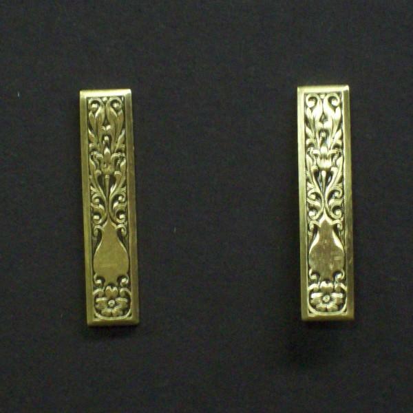 Ornate Rectangle Post Earrings
