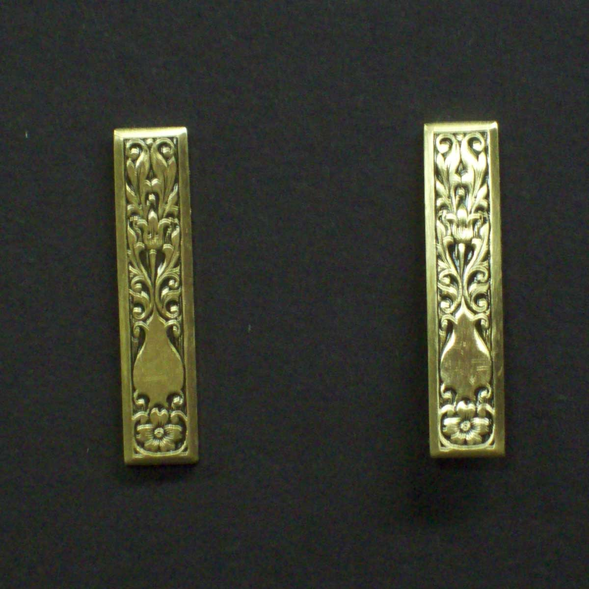 Ornate Rectangle Post Earrings