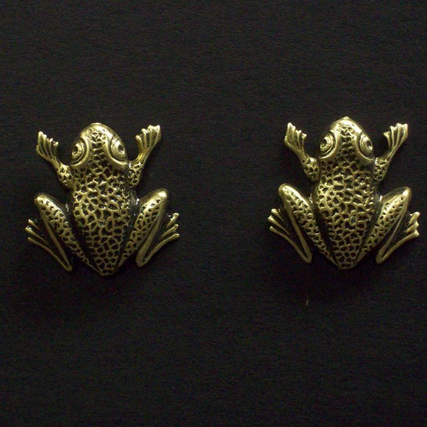 Large Post Frog Earrings