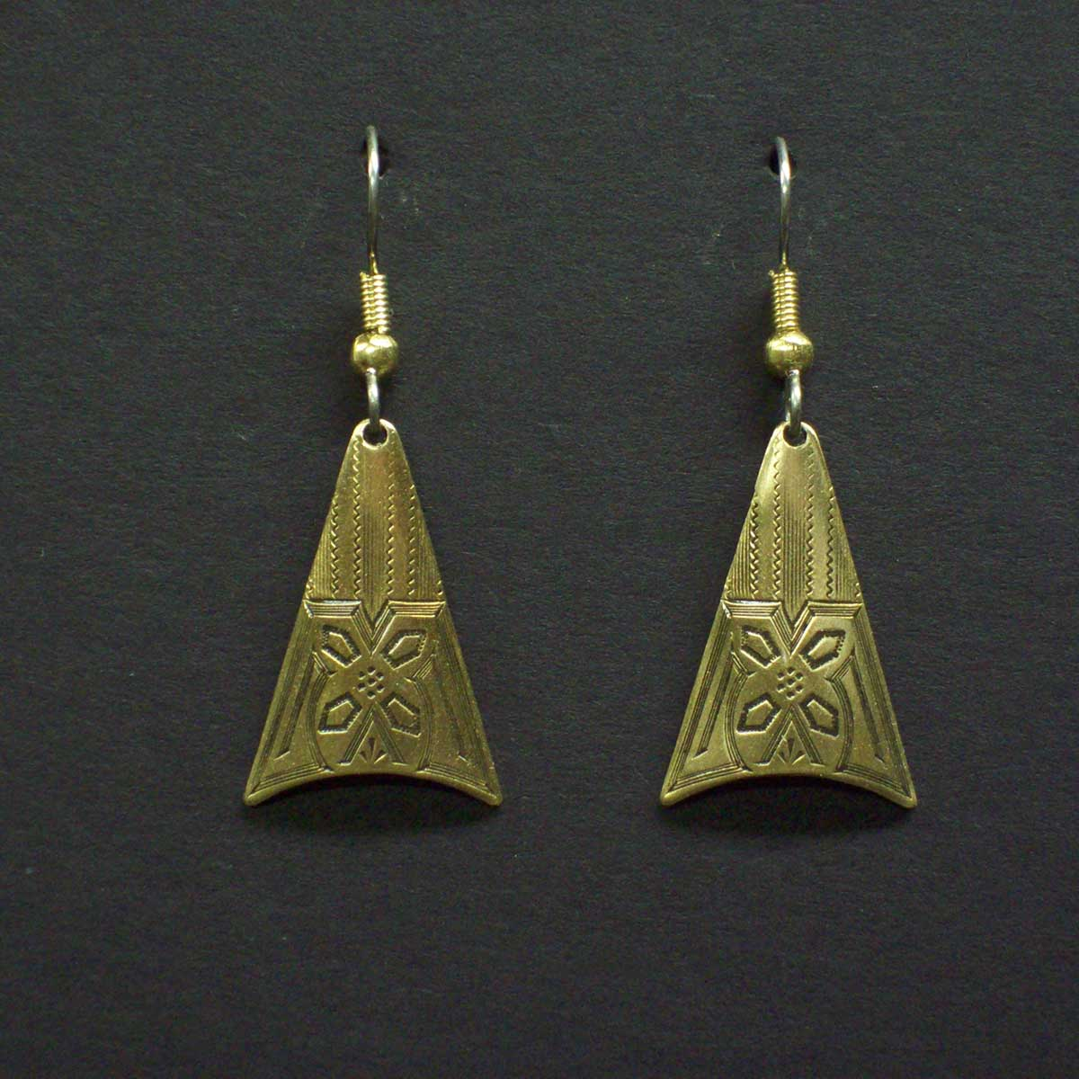 Engraved Vintage Style Earrings