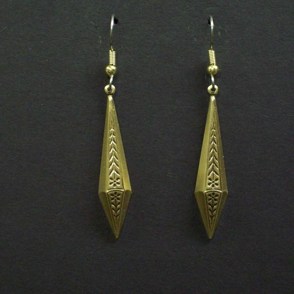 Victorian Diamond Shaped Drop Earrings