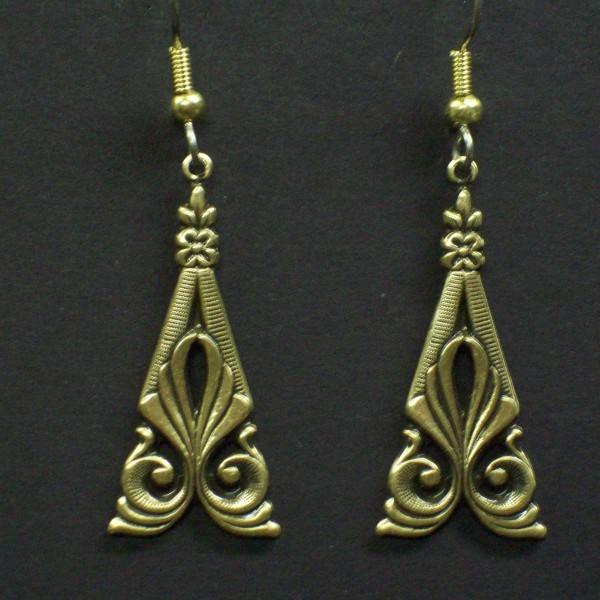 Victorian Scroll Dangle Earrings