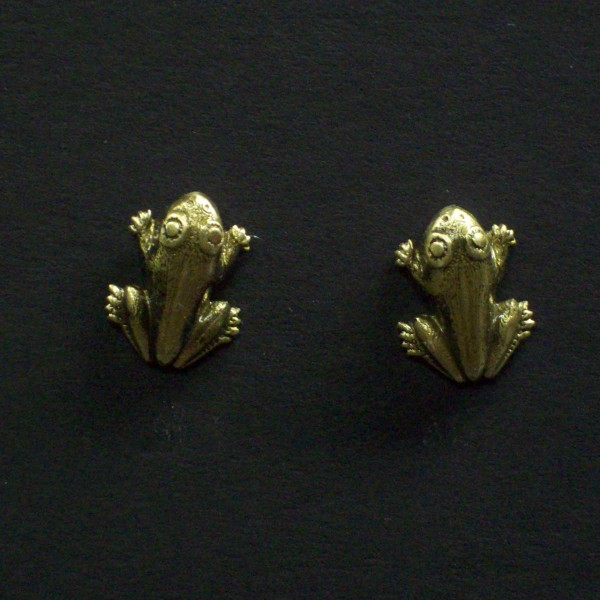 Small Frog Post Earrings